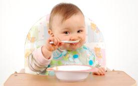 ребенок до года сам кушает пюре