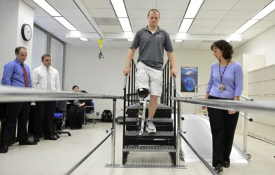 испытание бионической ноги