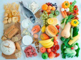 продукты расположенные по цвету