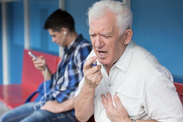 Симптом сердечной недостаточности левого отдела сердца -