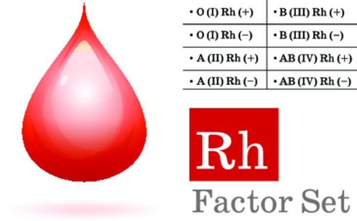 Результаты анализа группы крови